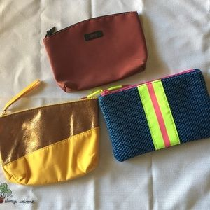 3 Ipsy cosmetic bags